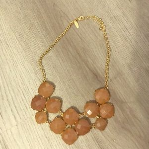 NY&CO Gorgeous Taupe & Gold Statement Necklace